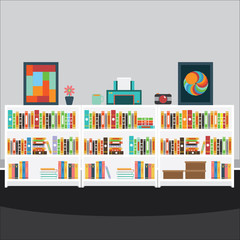 Vector of book room