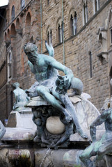 Statue fountain in Florence