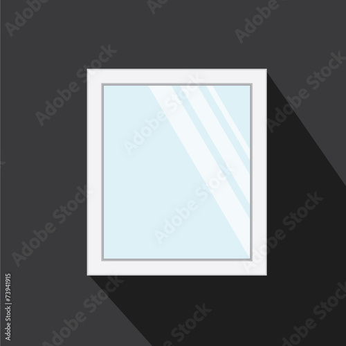 Vector of mirror with long shadow style - 73941915