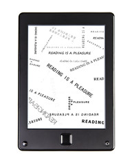 E-book reader for book with phrase READING IS A PLEASURE