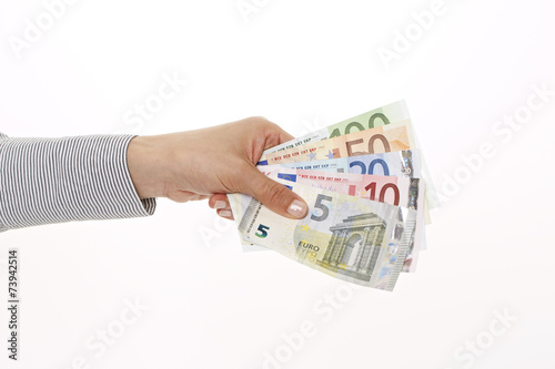 Geld überreichen Faust