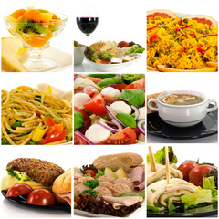 collage of fresh healthy food
