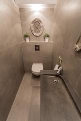 Contemporary restroom