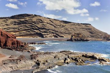 Beach inside a volcano