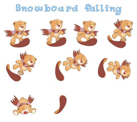 A set of stuffed bear toys cartoon