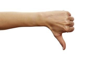 Handzeichen Daumen runter 3