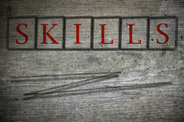 skills writen on a wall