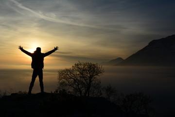 sisli dağlarda zirve başarısı