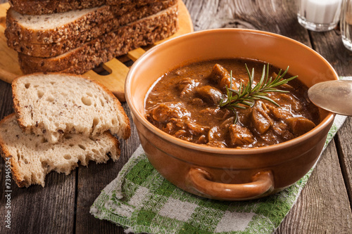 Foto op Canvas Restaurant Goulash soup.