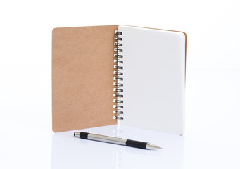 Notebook made from recycled paper