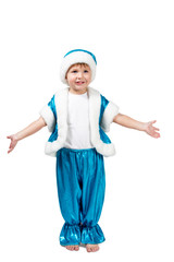Kid Santa is ready to hug