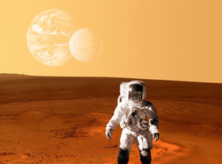 Astronaut Spaceman Mars Space