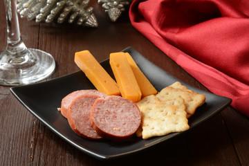 Smoked sausage and cheese