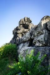 Aufgetürmte Felsformation, Teufelsmauer im Harz