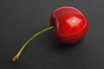 Cherry isolated on a black background