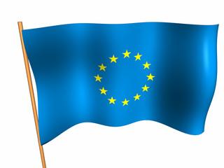 EU flag - 3d render