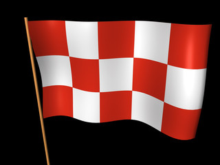 Race flag - 3d render