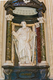 Apostle Simon sculpture in Basilica of Saint John Lateran in Rom