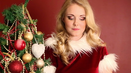 Christmas girl and gift