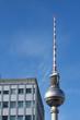 canvas print picture - Fernsehturm am Alexanderplatz