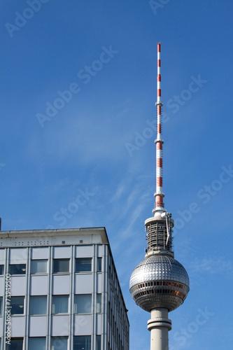 canvas print picture Fernsehturm am Alexanderplatz