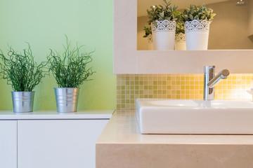 Close-up of washbasin