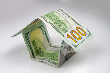 House made of american dollars