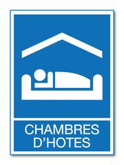 Panneau chambres d'hôtes.
