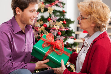 Man giving present