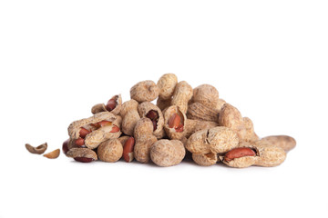 peanuts in shell isolated