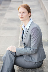Corporate Businesswoman in a City