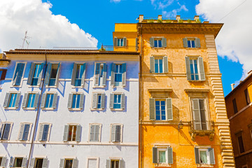 Houses in Rome, Italy.