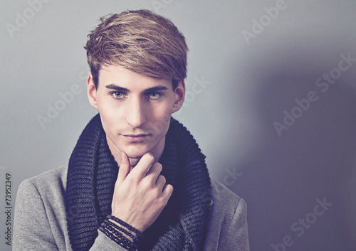 canvas print picture fashion portrait of handsome man - guy 17