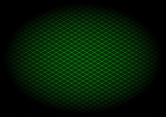 Green laser grid diagonal in elipse