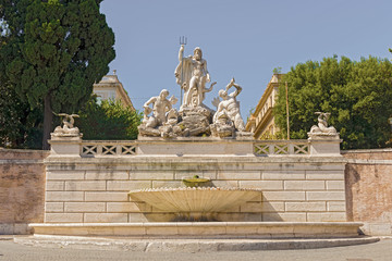 Fountain of Neptune in Rome, Italy.