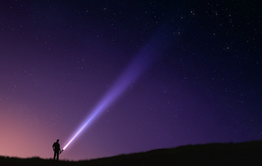 Night sky flash light