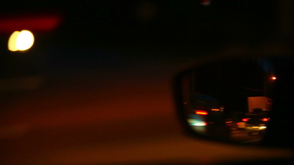 Car mirror at high speed