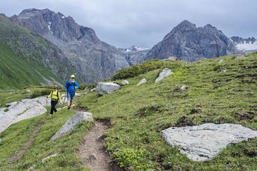 Walking in mountains