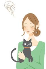 猫と女性 トラブル