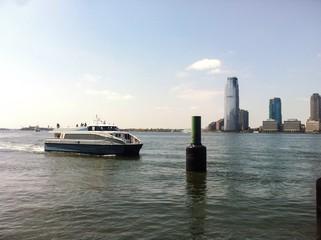 Ship in Hudson river, New York