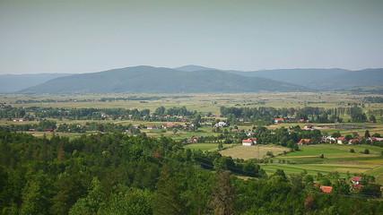 Landscapes road autobahn a1 in Croatia