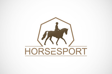 horse ride beauty sport logo vector