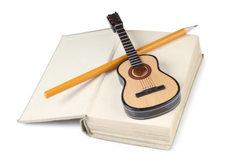 Guitar and book
