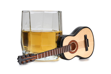 Whiskey and guitar