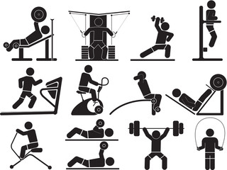 Silhouette Fitness icons