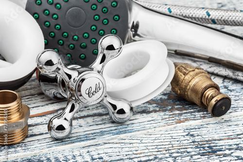 Leinwanddruck Bild plumbing and accessories