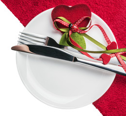 table to celebrate Valentine's Day