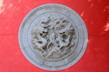 church dragon wall