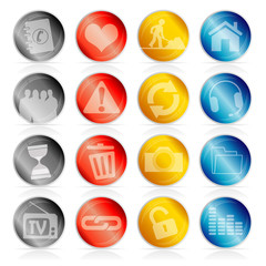 set of 16 icons