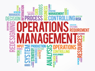 Word cloud of Operations Management related items